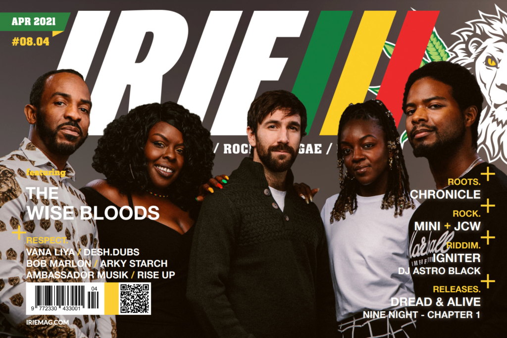 The Wise Bloods April feature in international reggae magazine IRIE