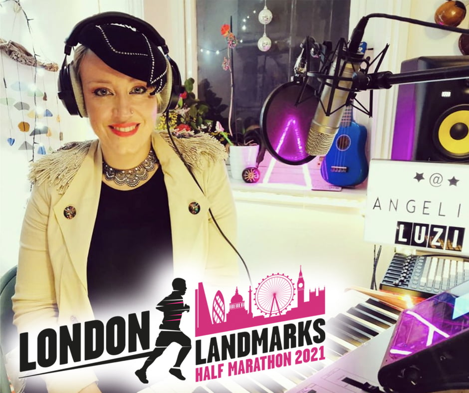 Angelina Luzi running in the London Landmarks Half Marathon 2021