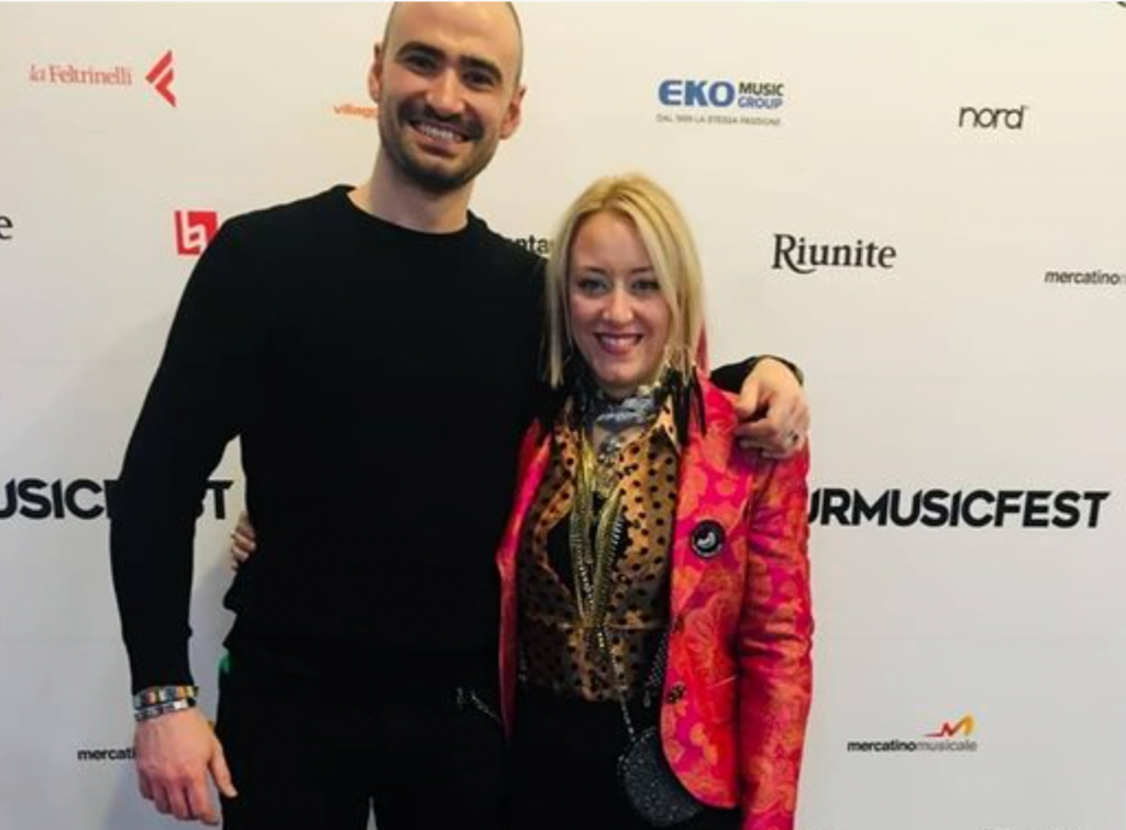 Carlo with partner Angelina Luzi at Tour Music Fest in Rome