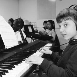 Learn or improve keyboard skills for songwriting