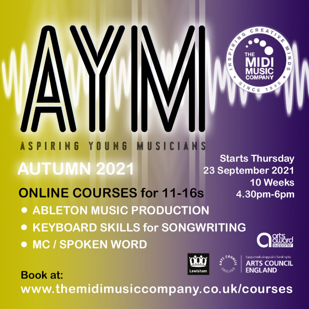 Aspiring Young Musicians (AYM) online courses for ages 11-16 this autumn